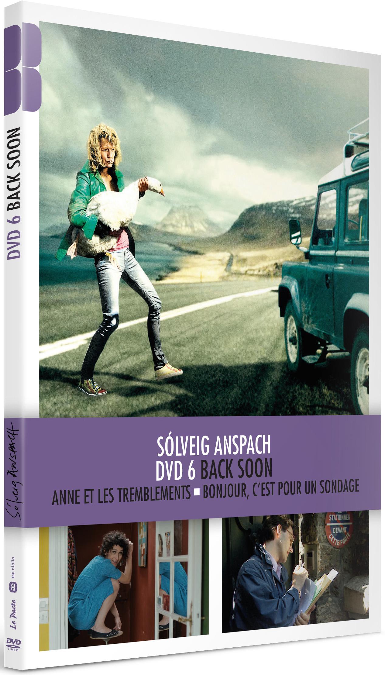 Back soon = Skrapp t | Anspach, Solveig (1960-....). Metteur en scène ou réalisateur